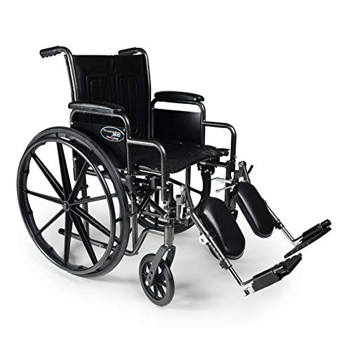 Everest & Jennings Traveler SE Wheelchair, Detachable Desk Arms & Elevating Legrests, 16x16' Seat,...