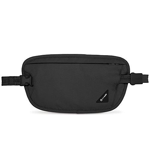 Pacsafe CoverSafe X100 Diebstahlschutz RFID-blockierender Geldgürtel, schwarz (Schwarz) - 10153