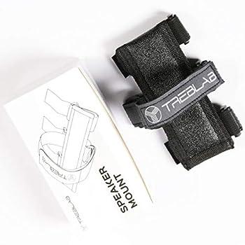 Treblab Bluetooth Speaker Mount - Universal Speaker Mount for Bike Golf Cart Railing - Adjustable Strap Holder Compatible with Most Portable Speakers