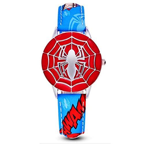 Reloj Niño HCGS Reloj para niños Reloj Infantil de Cuero con Tapa de Cuarzo y Metal Relojes Super Boys Reloj Gris Oscuro