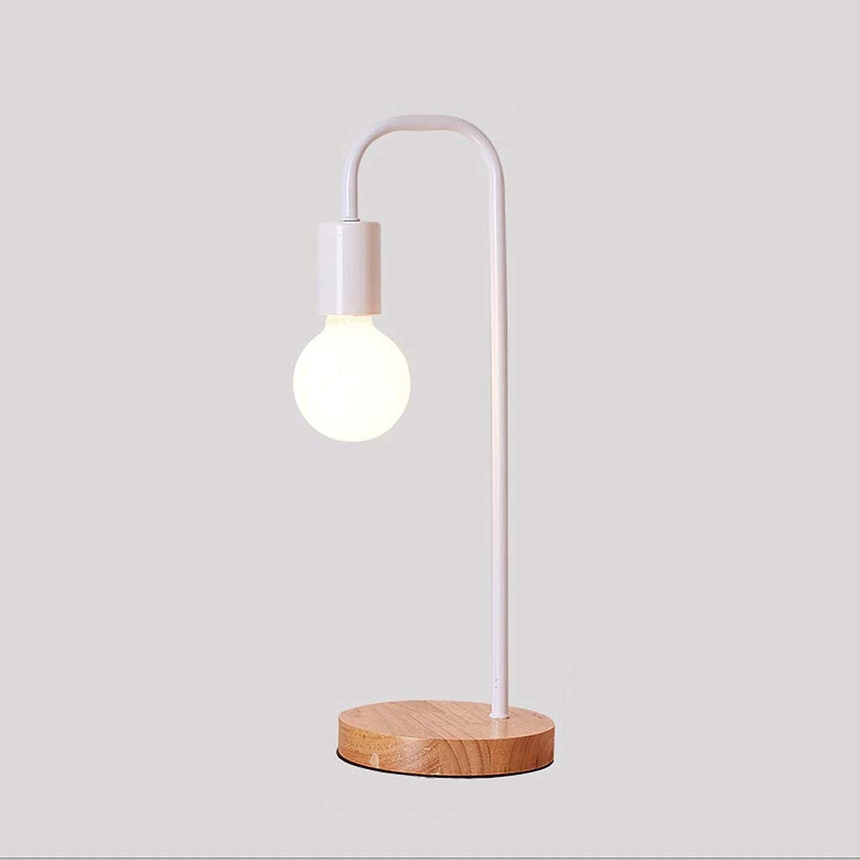 DGF Moderne Minimalistische Tischlampe Mode Kreative Kunst Persnlichkeit Nordic Büro Schlafzimmer Nachttischlampe Auge Lernen Massivholz Tischlampe LED Auge Leselampe FGD (Farbe   A)