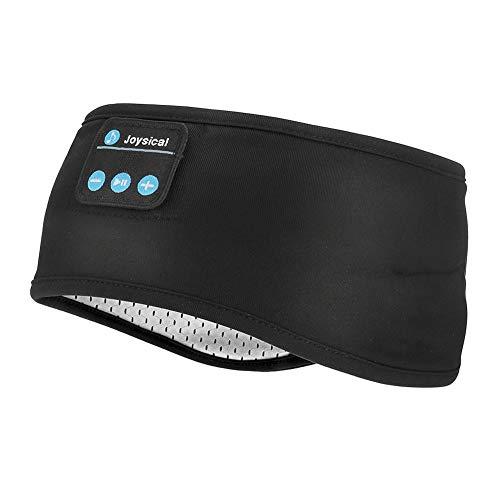 Maxjaa Bluetooth Auriculares Cinta de Cabeza, sueño Auriculares Bluetooth Deportes Cinta de Cabeza, Deporte Recargable Bluetooth USB con Diadema Ultra-Delgado HD Stereo para Deportes, Yoga y V