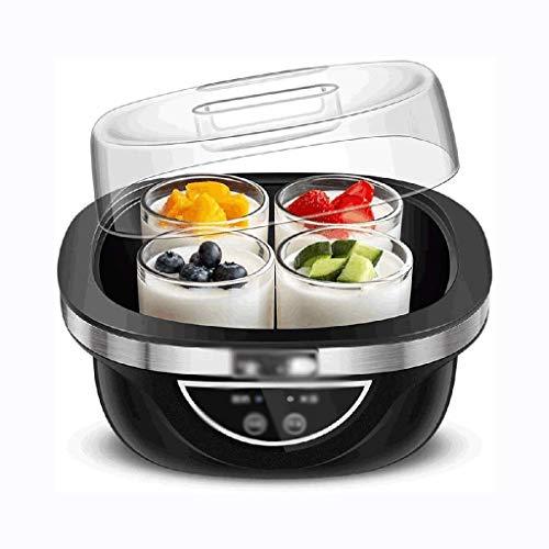 STRAW Multifunzionale Yogurt Maker -Mini Yogurt Maker Machine -2L Fodera dell'Acciaio Inossidabile Timing Porcellana della Tazza Tazza di Vetro di sceglier