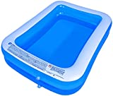 AMOCANE Family Inflatable Swimming Pool, Suitable for Babies, Children, Adults, Large Inflatable Lounge, Backyard, Garden Simple Swimming Pool (Equipped with air Pump) 79x59x20in (for 1-3 Kids)