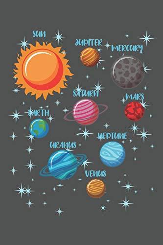 Sun Jupiter Mercury Saturn Mars Earth Neptune Uranus Venus: Weltraum Geschenk Für Astronomie Hobby  Raumfahrt Dina5 Liniert Notizbuch Tagebuch Planer Notizblock Kladde Journal Malheft Strazze
