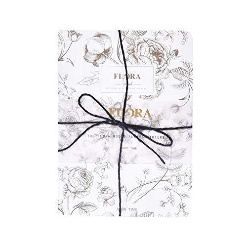 Cuaderno con flores impresas, cuaderno retro. Cuaderno para planificador diario, negocios, viajes.