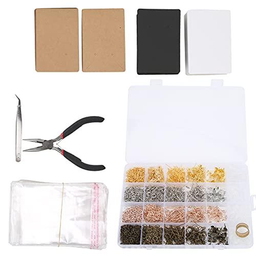 SONK Tarjeta de exhibición de Orejas, Completo, Estable, Resistente, fácil de empaquetar, Kit de fabricación de Orejas de Bricolaje para joyería para Hacer Pulseras para Collares para aretes