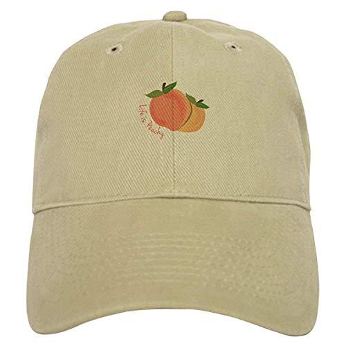 Rogerds Life is Peachy Baseball - Baseball Cap Adjustable Closure, Unique Printed Baseball Hat