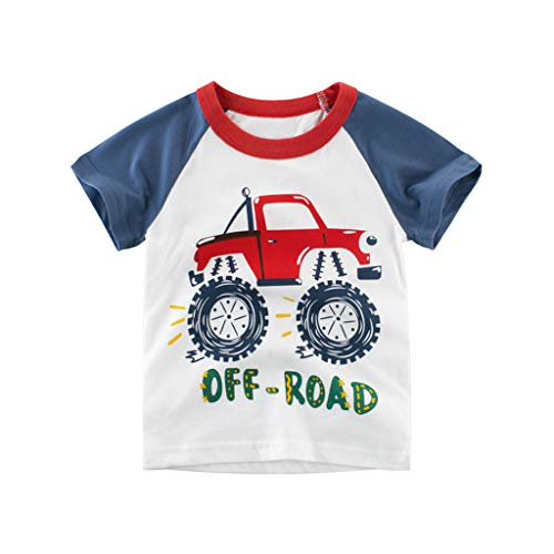 Julhold Kind Kinderen Baby Jongens Mode Leuke Cartoon Auto Letter Casual Slim T Tshirt Tops 1 STKS Outfits Kleding Set 1-10 Jaar