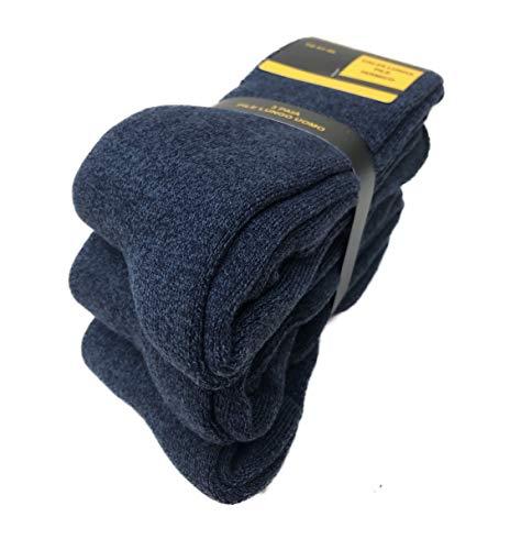 DREAM SOCKS calze calzini lunghi in pile termici invernali da sci antifreddo,calzini pesanti ad elevato isolamento termico,vari assortimenti.(3-pack or 6-pack) (41/46, 3 paia blu)