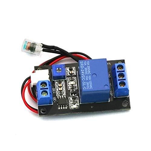 Tokyia Interruptor 24V DC24V fotosensible Resistencia del relé de Control del módulo de Control de luz No Módulo Módulo Sensor de Luz Accesorios para impresoras