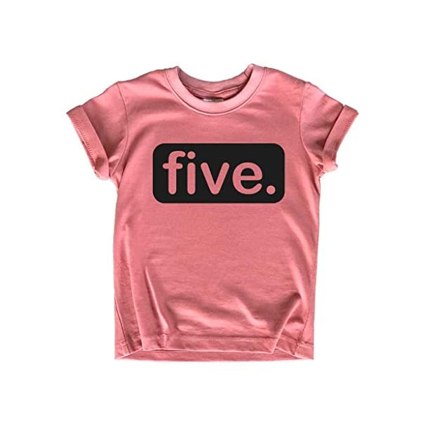 Unordinary Toddler 5th Birthday Shirts for Girls 5 Year Old Shirt Girl Five Gift Fifth Tshirt Outfit