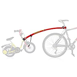 Converts an ordinary child's bike into a safe, towable trailer bike, whenever desired Securely held in place by a storage bracket Children can choose to coast or pedal while they are being towed Attachment and detachment can be done at any time and o...