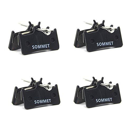 4 Pares SOMMET Pastillas Freno Disco Semi-metálico para Shimano XT M775 /...
