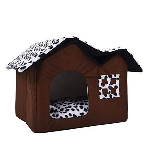 DMF Products Suministros para Perros Kennel de Mascotas, Gato Kennel Kennel Creativo Plegable Mascota Waterloo Gato Cama Tienda de campaña (Size : 50 * 40 * 35cm)