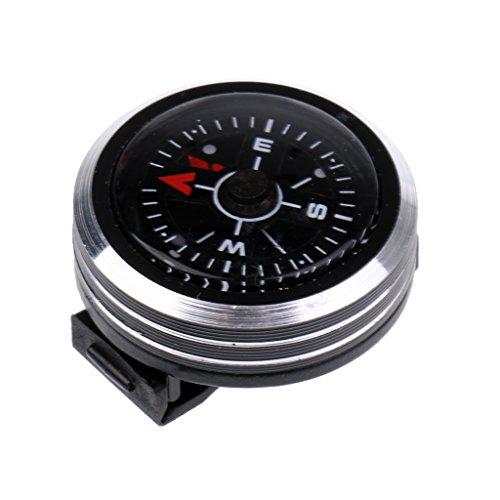 MagiDeal Brújula Compás de Estilo de Reloj Artículos Accesorios Deportivo Acuático Actividades Aire Libre Aleación de Aluminio Negro Kit de Supervivencia