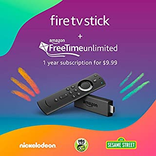Fire TV Stick with Alexa Voice Remote and 1 Year FreeTime Unlimited pre-paid plan for $9.99 (with auto-renewal) (B0868WLZT4)   Amazon price tracker / tracking, Amazon price history charts, Amazon price watches, Amazon price drop alerts