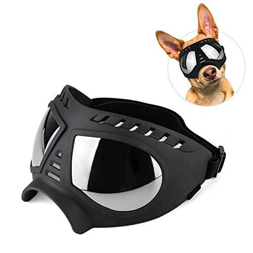 Lifeunion Dog Goggles Adjustable Anti-Dust/Haze/Wind/Snow UV Protection Goggles Sunglasses for Medium Large Dogs (Nose Bridge: 6 cm/2.36 in, Black)
