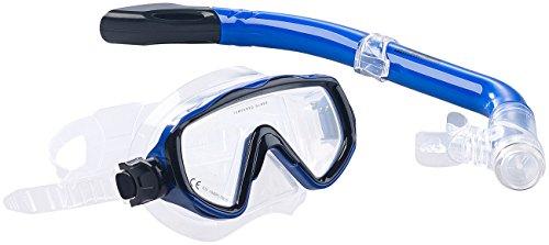 Speeron Tauchmaske: Schnorchel-Set für Kinder, Taucherbrille mit gehärtetem Glas (Taucherbrille Erwachsene)