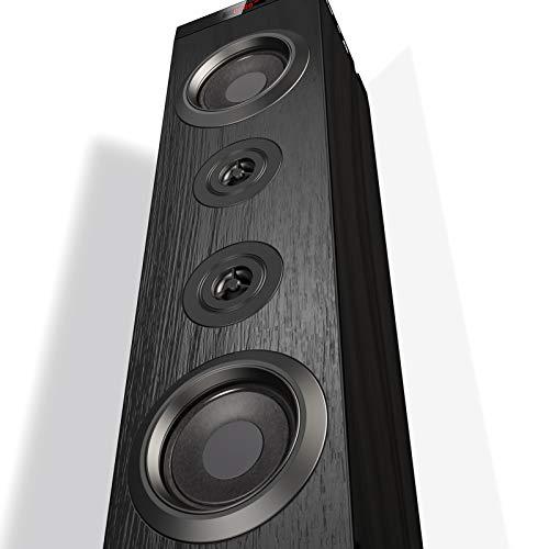 sounding tower speakers Floor Standing Bluetooth Tower Speaker, Floor Speakers for Home Stero System, Floor Standing Speakers Home Theater, VENLOIC Bluetooth Tower Speakers with Bass