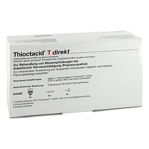 Thioctacid T direkt + Zubeh�r Injektionsl�sung, 5X50 ml