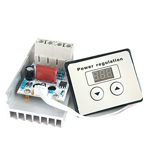 Nihlsen AC 220 V 10000 W SCR Control Digital Regulador de Voltaje Electrónico Control de Velocidad Regulador Termostato Medidores Digitales Fuente de Alimentación
