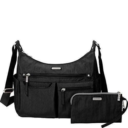 Baggallini New Classic'Heritage' Anywhere Large Hobo with RFID Phone Wristlet Black One Size