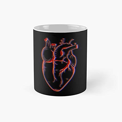 Tricolor Human Heart Anatomy Classic Mug Best Gift Funny Coffee Mugs 11 Oz