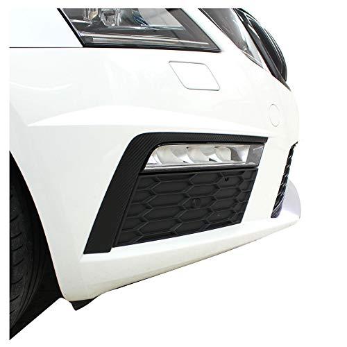 D070 Spoiler Flap Wing Dekor Set Folie selbstklebend für Auto Front Stoßstange (Carbon)