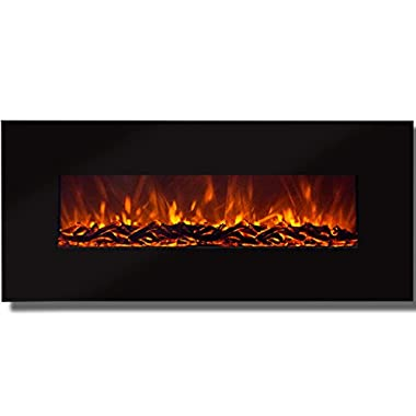 Best Choice Products 50  Electric Wall Mounted Fireplace Heater Smokeless Ventless Adjustable Heat