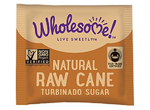Wholesome Sweeteners Organic Turbinado Raw Cane Sugar Packets, 500 Count, 1 Case