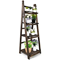 🌱【INSTALLATION IS NOT CUMBERSOME】- No complicated installation is required. The plant stand has been pre-installed, and it can be used after opening the stand! 🌱【MADE IN NATURE】- The flower stand is made of 100% paulownia wood and is known for its st...