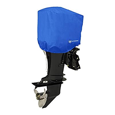 Seamander Waterproof Boat Outboard Motor Hood Cover 10-200 HP Engines Cover (Pacific Blue, Fits up to 200 hp) from Seamander