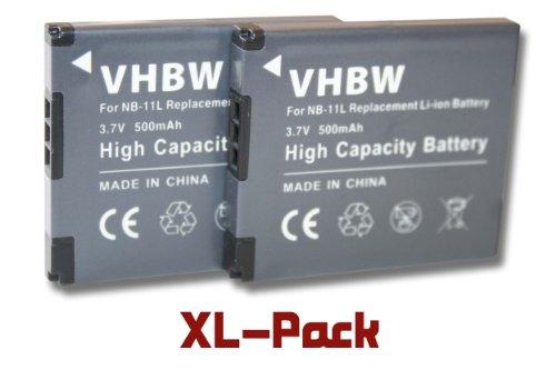 Vhbw 2x Li-Ion batteria 500mAh (3.7V) per