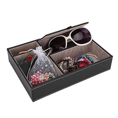 Scatola di immagazzinaggio desktop, braccialetti fai da te Occhiali Vassoio di stoccaggio gioielli Organizzatore di gioielli Forniture per ufficio Scatola di immagazzinaggio per uso quotidiano