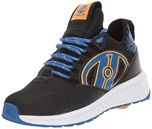 HEELYS Bandit Zapatos con Ruedas Garcons Negro Azul Naranja - 32 - Zapatos con Ruedas