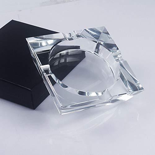 Kristallglas Aschenbecher Durchsichtig Quadratische Form Aschenbecher Zigarre Rauchzubehör Haushaltsbüro KTV Raucherbedarf Aschenbecher