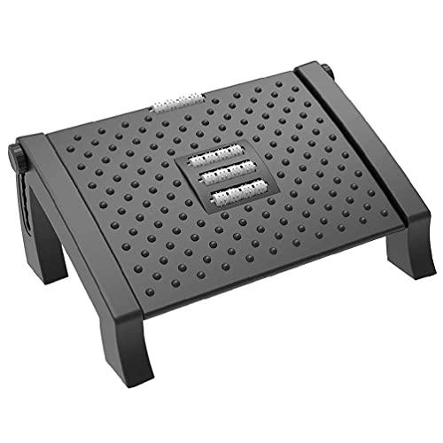 Reposapiés de masaje - Reposapiés de altura ajustable con masaje, superficie debajo del escritorio Comodidad ergonómica para el hogar y la oficina Taburete para pies Oficina