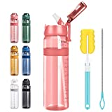 HZLIEIY Water Bottle with Straw,...