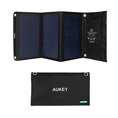 AUKEY Chargeur Solaire 21W avec 2 Ports USB, 5V 2A...