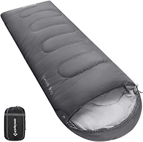 Saco de Dormir KingCamp Oasis para 3 Temporadas, diseñado para Camping, Senderismo y Actividades al Aire Libre, Disponible en 4 tamaños para niños, Adultos, Extra Grande y Doble