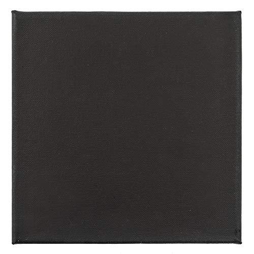 Ideen mit Herz Leinwand auf Keilrahmen, schwarz grundiert, 280g/qm, Akademie-Qualität (30 x 30 cm)