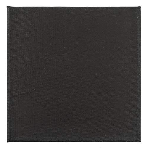 Leinwand auf Keilrahmen, 30cm x 30cm, 280g/m², schwarz