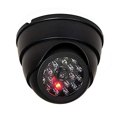 Hihey Cámara Dummy Cámara de Vigilancia Falsa Dummy Dummy Real Cámara de Seguridad Falsa de Interior con Luz LED de Seguridad de Casa