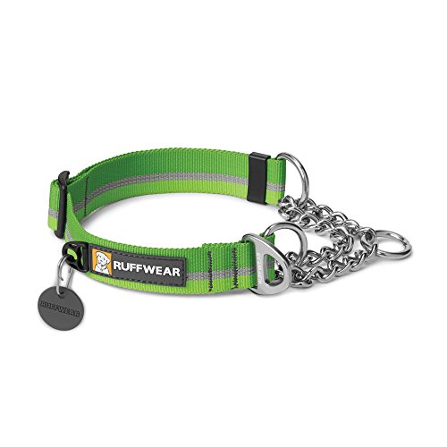 RUFFWEAR - Chain Reaction Dog Collar, Martingale Style for On-Leash Walking, Meadow Green, 11'-14'