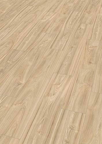 Egger Home Comfort Fußboden EHC006 Ashton Rüster (8 mm, 1,995m²) | authentische Holzoptik | Kork Laminat mit Trittschalldämmung | Einfache Verlegung durch CLIC It System | Warm & leise, hellbraun
