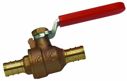 Watts PEX LFP-560 In-Line Full Port Ball Valve 1/2-Inch Barb x 1/2-Inch Barb Low-Lead, Brass