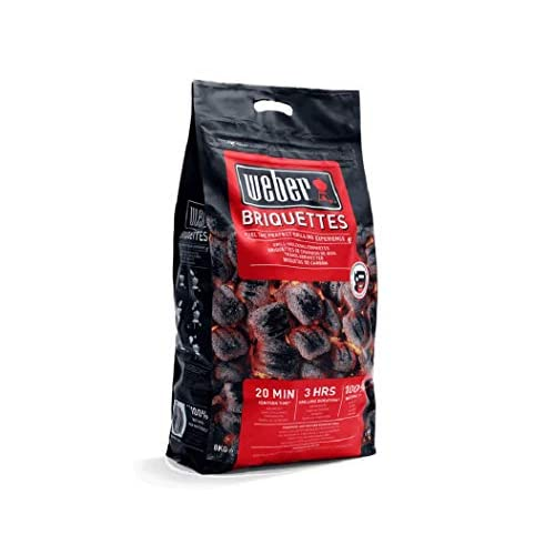 Weber Barbecue Charcoal Briquettes 8kg – Fuel The Perfect BBQ Grill Experience – Perfect for Outdoor Roasting, Baking…