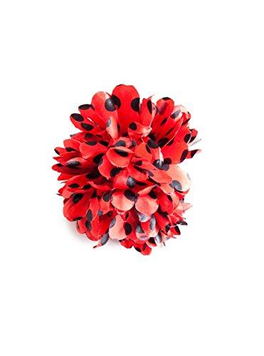 Flores flamenca rojas con topos negros 😍