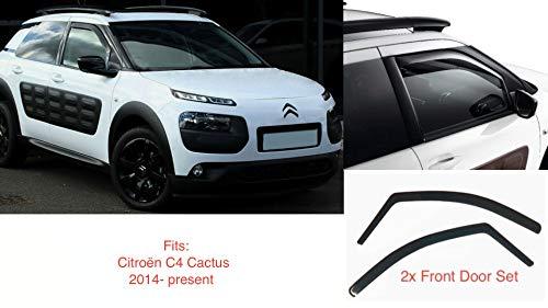 2x Windabweiser kompatibel  für Citroën C4 Cactus 2014 2015 2016 2017 2018 2019 2020  Premium Qualität Acrylglas